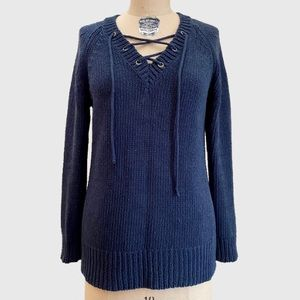Anthropologie Blue Knit Sweater by Moth